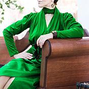 Одежда ручной работы. Ярмарка Мастеров - ручная работа Блузон-трансформер со съемными рукавами и юбка с запахом. Handmade.