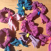 Украшения ручной работы. Ярмарка Мастеров - ручная работа Резинки для волос 6 штук / трикотаж , ассортимент. Handmade.