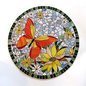 """Для дома и интерьера ручной работы. Ярмарка Мастеров - ручная работа Столик """"Бабочка""""-мозаика. Handmade."""