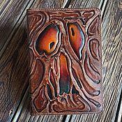 Канцелярские товары handmade. Livemaster - original item Necronomicon diary, notebook Necronomicon made of leather. Handmade.