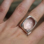Украшения ручной работы. Ярмарка Мастеров - ручная работа 17. 5 перстеньс  большим горным граненным  кольцо серебряное с. Handmade.