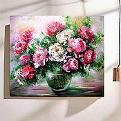 Картины и панно handmade. Livemaster - original item Peonies oil painting on canvas. Handmade.