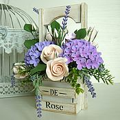 Цветы и флористика handmade. Livemaster - original item Bouquet of lilac tenderness. Flowers polymer clay handmade.. Handmade.
