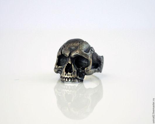 """Кольца ручной работы. Ярмарка Мастеров - ручная работа. Купить Кольцо череп - """"Dark"""". Handmade. Черный, готические украшения, нейзильбер"""
