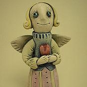 Куклы и игрушки ручной работы. Ярмарка Мастеров - ручная работа Керамические фигурки. Ангелы.. Handmade.
