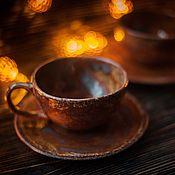 Чайная пара Про осенние листья в воде
