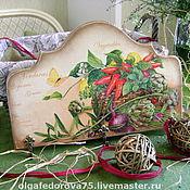 """Для дома и интерьера ручной работы. Ярмарка Мастеров - ручная работа Вешалка """"VEGETABLES"""". Handmade."""