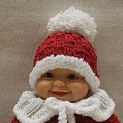 """Схемы для вязания ручной работы. Ярмарка Мастеров - ручная работа МК """" Маленький Санта"""" спицами для пупсов 22 см. Handmade."""