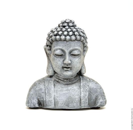 Статуэтки ручной работы. Ярмарка Мастеров - ручная работа. Купить Бетонный бюст Будды для декора интерьера и сада. Handmade. Серый