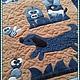 Текстиль, ковры ручной работы. Заказать Коврик с джинсовой аппликацией. Юлия Шустикова. Ярмарка Мастеров. Ручная работа, вельвет