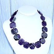 Украшения handmade. Livemaster - original item Beautiful necklace made of natural amethyst. Handmade.