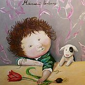 Картины и панно ручной работы. Ярмарка Мастеров - ручная работа 27.Картина Маленький Рембрандт счастье любовь 30 на 40 см. Handmade.