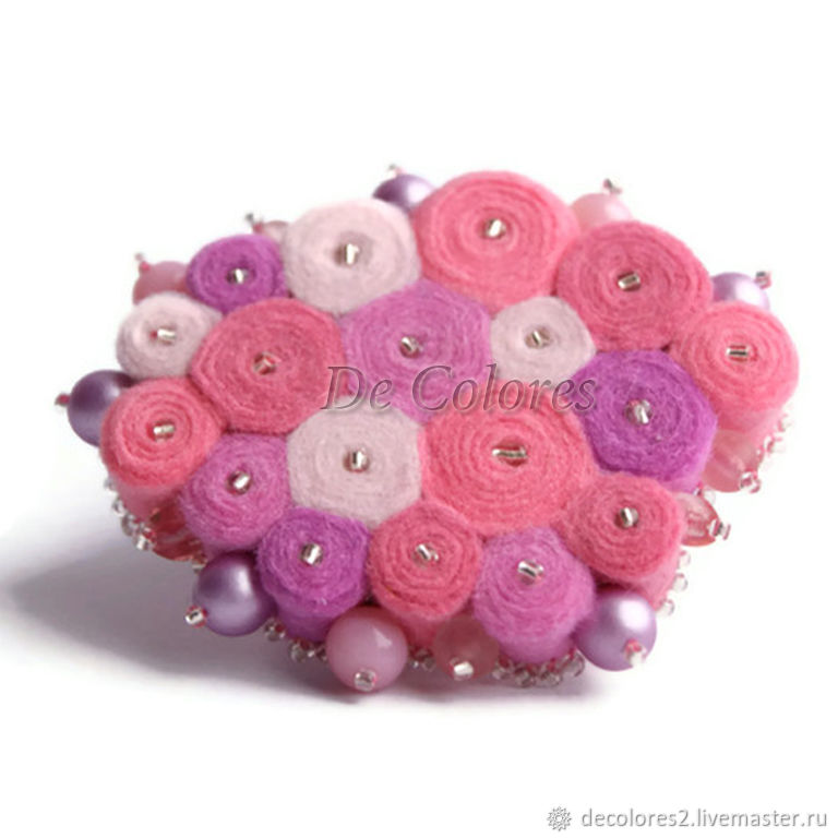 The Varna pink brooch pin, Brooches, Moscow,  Фото №1