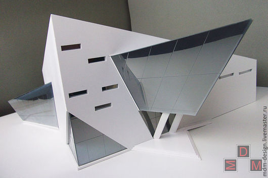 Макет  концептуального проекта театрального центра  в масштабе 1:50.