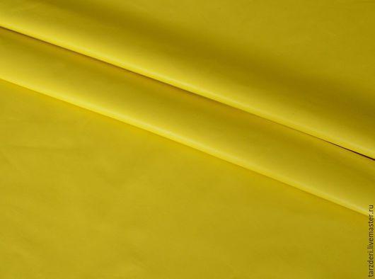Шитье ручной работы. Ярмарка Мастеров - ручная работа. Купить Мягкая натуральная кожа 0,55 мм - Ярко-желтая. Handmade.