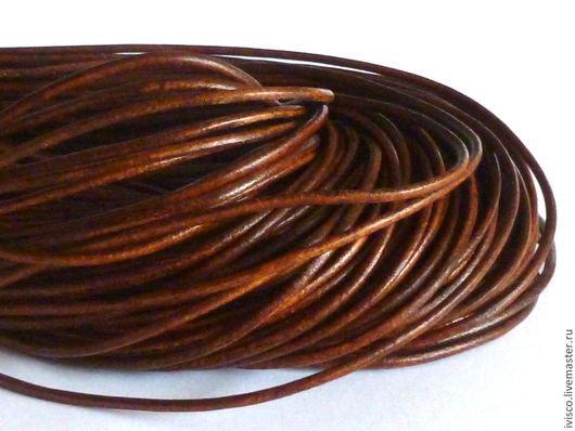 Для украшений ручной работы. Ярмарка Мастеров - ручная работа. Купить Кожаный шнур 1,8мм. Handmade. Шнур для украшений