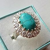 Кубачи! Серебряное кольцо 925 пробы  Бриз