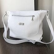 Сумки и аксессуары handmade. Livemaster - original item White Crossbody Bag Leather Trunk Hobo Bag with Shoulder Strap. Handmade.