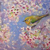 Картины и панно handmade. Livemaster - original item Oil painting cherry Blossom. Handmade.