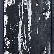 Pictures handmade. Livemaster - original item Black abstract acrylic. Handmade.