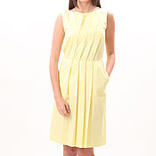 """Одежда ручной работы. Ярмарка Мастеров - ручная работа Скидка! 20 % ! Платье """"Складка"""" желтый 88917. Handmade."""