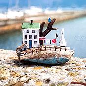 Для дома и интерьера ручной работы. Ярмарка Мастеров - ручная работа Белоснежный домик на острове driftwood. Handmade.
