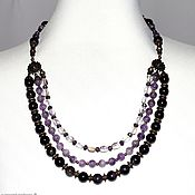Украшения handmade. Livemaster - original item Necklace from natural Amethyst. Handmade.