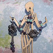 Украшения ручной работы. Ярмарка Мастеров - ручная работа Лаванда с мятой: серьги, браслет, кулон. Handmade.