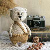 Мягкие игрушки ручной работы. Ярмарка Мастеров - ручная работа Медведь Клавдий. Handmade.