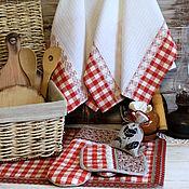 """Для дома и интерьера ручной работы. Ярмарка Мастеров - ручная работа Прихватки-набор для кухни """"Кантри"""". Handmade."""