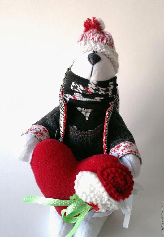 Игрушки животные, ручной работы. Ярмарка Мастеров - ручная работа. Купить Текстильная интерьерная игрушка Заяц Валентин. Handmade.