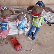 Мягкие игрушки ручной работы. Ярмарка Мастеров - ручная работа Семейный гаишник. Handmade.