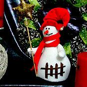 Подарки к праздникам handmade. Livemaster - original item Snowman with star , white red.. Handmade.