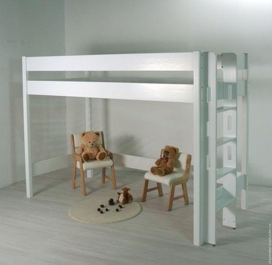 Детская ручной работы. Ярмарка Мастеров - ручная работа. Купить Кровать чердак  белая высота 150 см. Handmade. Белый