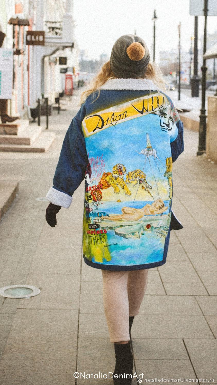 Drawing on a denim jacket Salvador Dali Dream, Outerwear Jackets, Omsk,  Фото №1