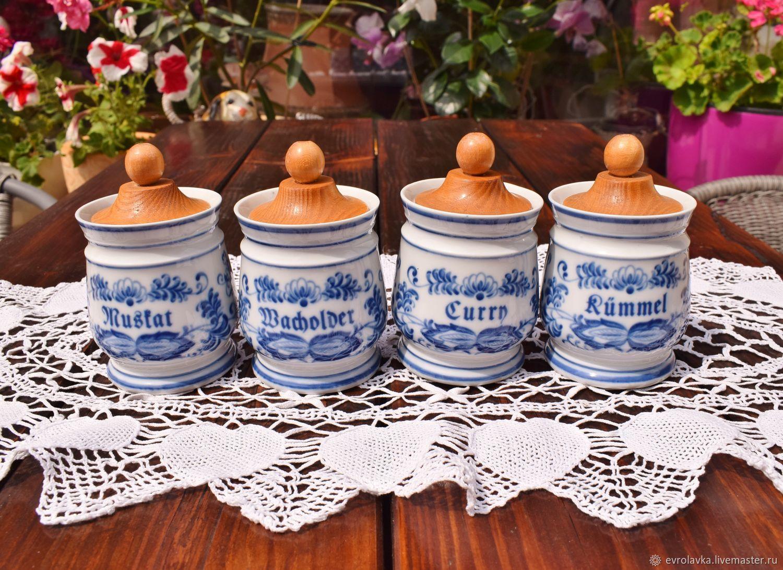 Wallendorf.Spice jars.Cobalt.Germany, Vintage kitchen utensils, Trier,  Фото №1