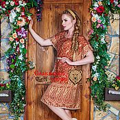 Одежда ручной работы. Ярмарка Мастеров - ручная работа Платье-туника терракот. Handmade.