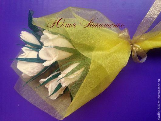 """Букеты ручной работы. Ярмарка Мастеров - ручная работа. Купить Букет из конфет, """"Веточка роз"""". Handmade. Букет, букет цветов"""