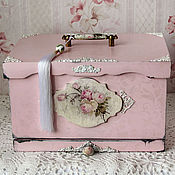 handmade. Livemaster - original item The bread bin shabby chic with a sliding Board for cutting (2)
