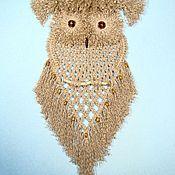 Картины и панно ручной работы. Ярмарка Мастеров - ручная работа «Сова Джесси», настенное панно, макраме. Handmade.