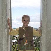 Vests handmade. Livemaster - original item Children`s felted vest
