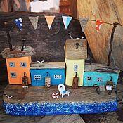 Для дома и интерьера handmade. Livemaster - original item Driftwood houses Italian street. Handmade.