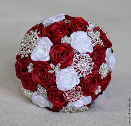 Свадебные цветы ручной работы. Ярмарка Мастеров - ручная работа. Купить Свадебный букет невесты, брошь-букет. Handmade.
