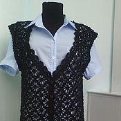 Одежда handmade. Livemaster - original item The vest is black openwork. Handmade.