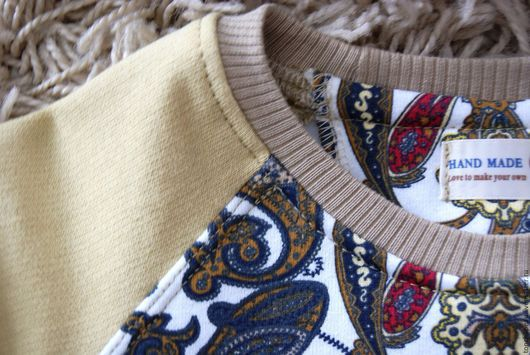 """Кофты и свитера ручной работы. Ярмарка Мастеров - ручная работа. Купить Свитшоты """"Пейсли"""" комплект family look. Handmade. Бежевый"""