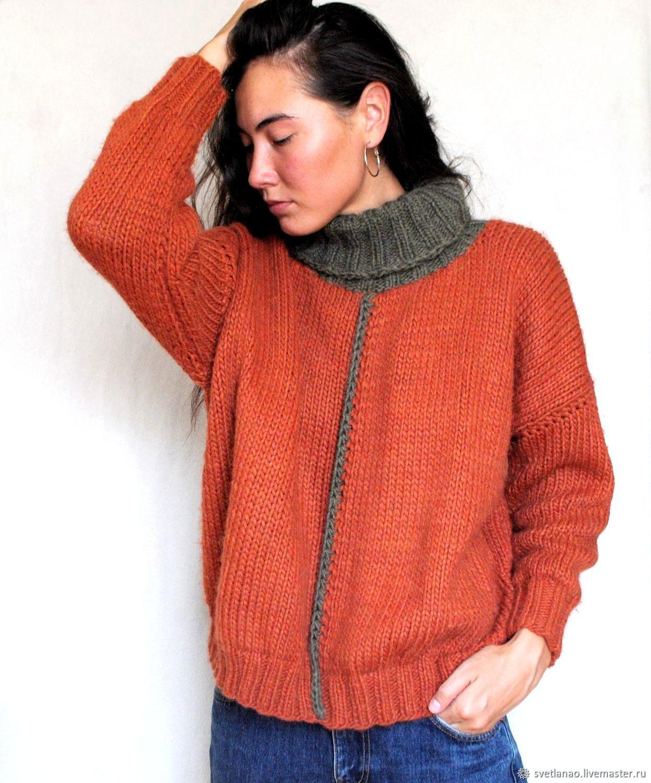 Knitted sweater, jumper 'TERRACOTTA' from Italian Alpaca, Sweaters, Ulan-Ude,  Фото №1