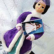 Подарки к праздникам ручной работы. Ярмарка Мастеров - ручная работа Девушка с куклой  - ватная игрушка. Handmade.