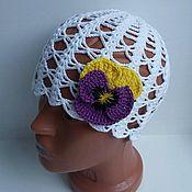 Работы для детей, ручной работы. Ярмарка Мастеров - ручная работа Летняя шапочка для девочки. Handmade.