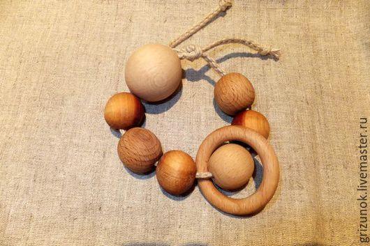 Развивающие игрушки ручной работы. Ярмарка Мастеров - ручная работа. Купить Слингочетки-грызунок простой. Handmade. Коричневый, слингоигрушка