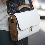 Сумки и аксессуары handmade. Livemaster - original item Leather women bag Big White Morocco. Handmade.